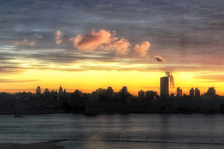 Morning over the Hudson