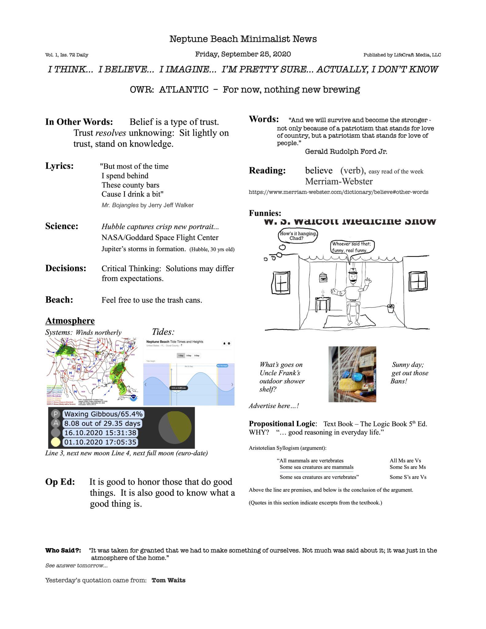 Neptune Beach Minimalist News