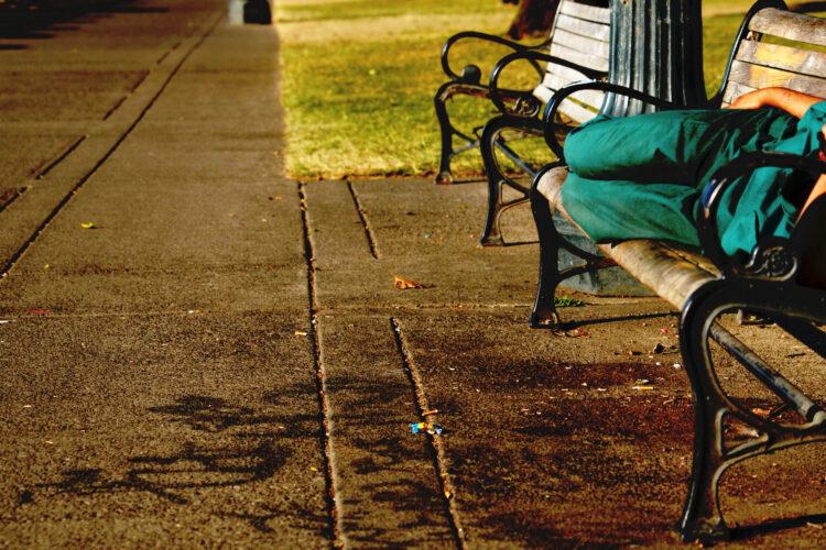 Portland park bench